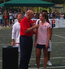 DICK VITALE AT TENNIS TOURNAMENT